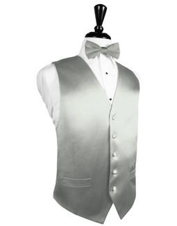 Platinum Silk Tuxedo Vest