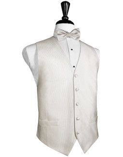 Faille Silk Ivory Full Ivory Silk Tuxedo Vest by Cardi