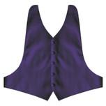 Lapis Purple Backless Vest