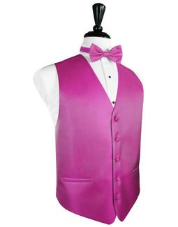 Fuschia Tuxedo Vest