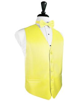 Lemon Herringbone Tuxedo Vest