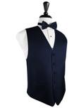Navy Blue Herringbone Tuxedo Vest