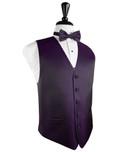 Plum Herringbone Tuxedo Vest
