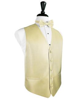 Banana Herringbone Tuxedo Vest