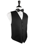 Black Herringbone Tuxedo Vest