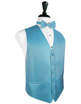 Blue Ice Herringbone Tuxedo Vest