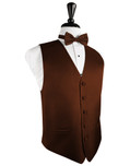 Cinnamon Herringbone Tuxedo Vest