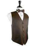 Espresso Herringbone Tuxedo Vest