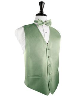 Mint Herringbone Tuxedo Vest