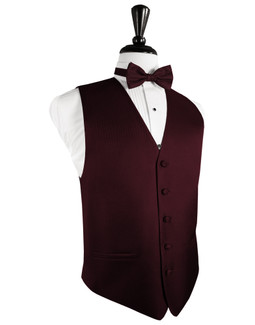 Merlot Herringbone Tuxedo Vest