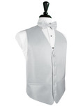 Platinum Herringbone Tuxedo Vest