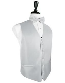 Platinum Herringbone Tuxedo Vest