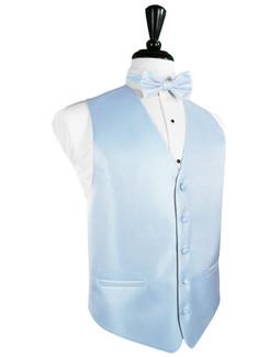 Powder Blue Herringbone Tuxedo Vest