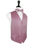 Rose Herringbone Tuxedo Vest