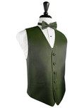 Sage Herringbone Tuxedo Vest