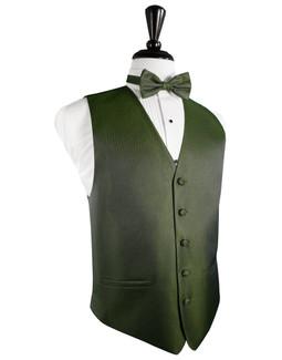 Sage Herringbone Tuxedo Vest