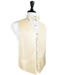 Sand Herringbone Tuxedo Vest
