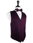 Sangria Herringbone Tuxedo Vest