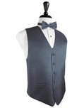 Desert Blue Herringbone Tuxedo Vest