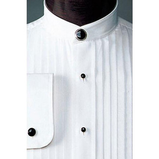 Mandarin Collar Tuxedo Shirt