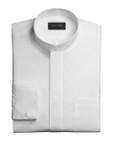 Mandarin Collar Tuxedo Shirt - Non Pleated Fly Front