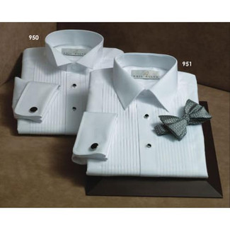 Cotton Wing Tuxedo Shirt with French Cuffs