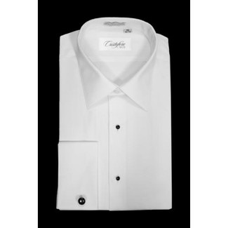 BARI White Laydown Tuxedo Shirt by Cristoforo Cardi