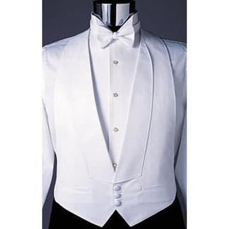 White Pique Backless Vest
