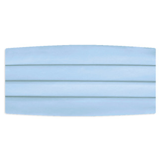 Satin Light Blue Cummerbund