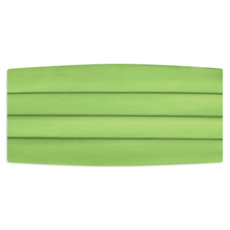Satin Lime Cummerbund