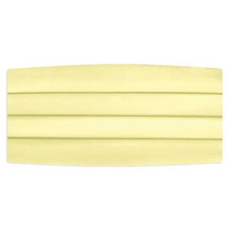 Satin Yellow Cummerbund
