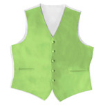 Satin Full Back Tuxedo Vest in Lime Green