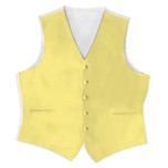 Satin Full Back Tuxedo Vest in Canary Yellow