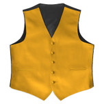 Satin Full Back Tuxedo Vest in Gold