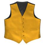 Satin Full Back Tuxedo Vest in Gold