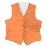 Satin Full Back Tuxedo Vest in Tangerine