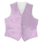 Satin Full Back Tuxedo Vest in Liilac