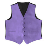 Satin  Full Back Tuxedo Vest in Porto Lavender