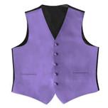 Satin  Full Back Tuxedo Vest in Porto Lavender