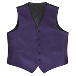 Satin Full Back Tuxedo Vest in Lapis Purple