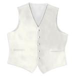 Satin Full Back Tuxedo Vest inIvory