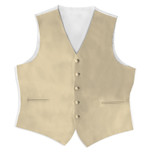 Satin Full Back Tuxedo Vest in Champagne