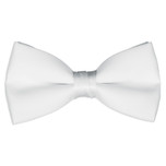 Satin White Bowtie