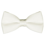Satin Ivory Bowtie