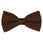 Satin Chocolate Brown Bowtie