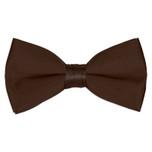 Satin Chocolate Brown Bowtie