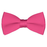 Satin Hot Pink Bowtie