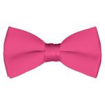 Satin Hot Pink Bowtie