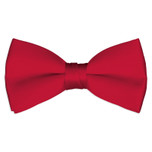 Satin Red Bowtie