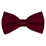 Satin Burgandy Bowtie